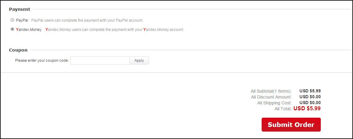 JD com оплата через Яндекс.Деньги